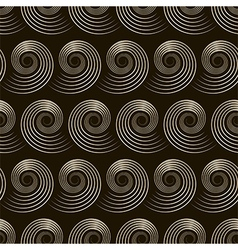 Seamless pattern with stylish spiral curls vector image