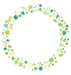 Set of elements of spring vector image