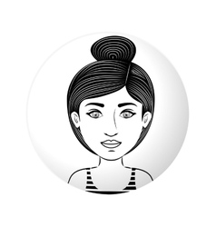 sphere half body woman with collected hair vector image