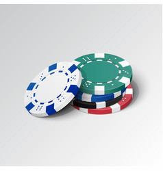 stack of casino chips vector image