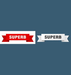 Superb ribbon superb isolated paper sign banner vector