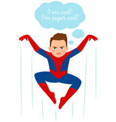 Superhero spider boy vector
