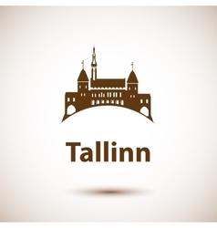 Tallinn skyline - vector
