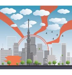 Tokyo skyline vector