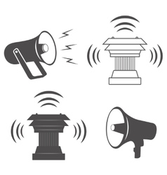 Two industrial Alarm or announcement speakers vector