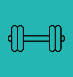 Weight lifting lifestyle icon vector