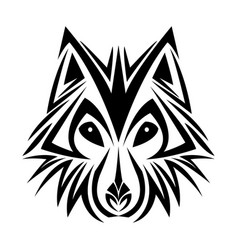 Wolf tribal tatto animal creativity design vector