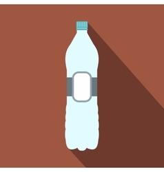 Plastic bottle flat icon vector image