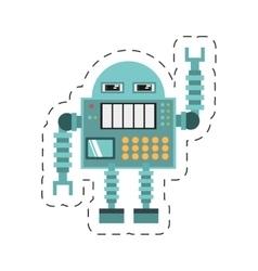Robotic operator machine technology cutting line vector