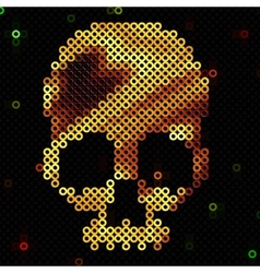 Skull gold Beads sequins Shiny vector image vector image