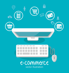 electronic commerce business icon vector image