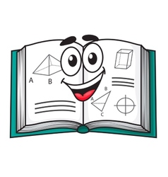Happy smiling cartoon school textbook vector image