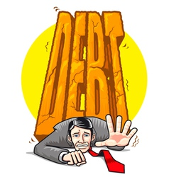 heavy debt vector image