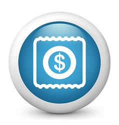Ticket glossy icon vector image