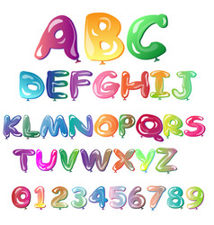 alphabet in the form of balloons vector image