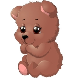 Bear in beautiful pose vector image vector image