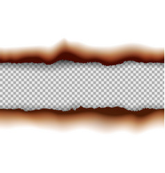burned paper edges seamless horizontal pattern vector image