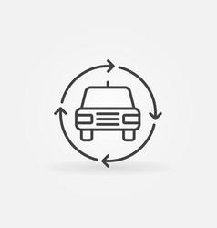 car in circular arrows icon vector image vector image