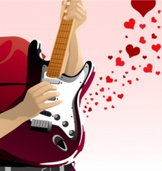 love song vector image vector image