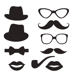Retro hipster set vector image vector image