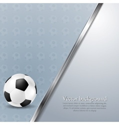 Soccer background with metallic stripe vector image