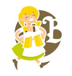 bavarian girl vector image vector image