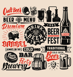 Beer badges vector