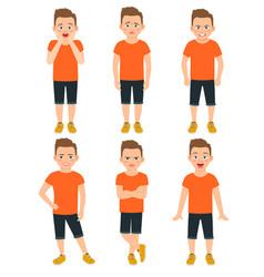 boys different emotions llustration vector image vector image