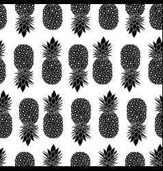 fresh black and white pineapples geometric vector image vector image
