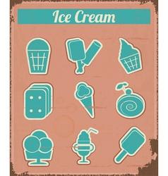 Ice Cream - Vintage set labels vector image