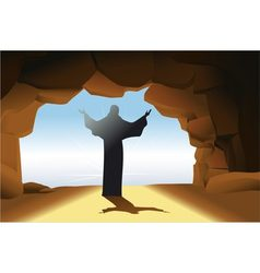 Resurrected Jesus Christ vector image vector image