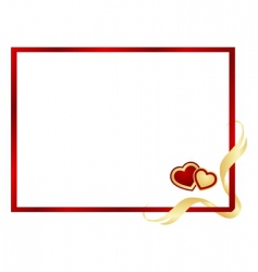 valentines frame vector image vector image