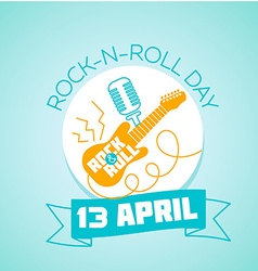 13 April World Rock-n-roll Day vector