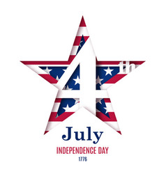 4th july independence day greeting vector