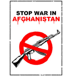 A poster calling for an end to war vector