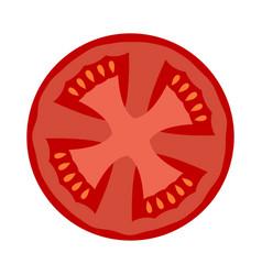 a slice of ripe tomato vector image