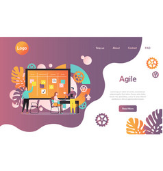 agile website landing page design template vector image
