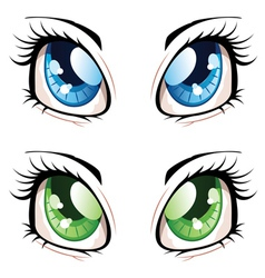 Anime style eyes2 vector