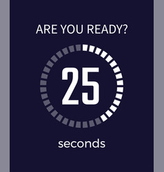 Are you ready timer seconds vector
