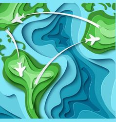 Around world - travel concept vector