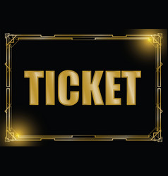 Art deco ticket background vector