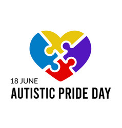 Autistic pride day vector