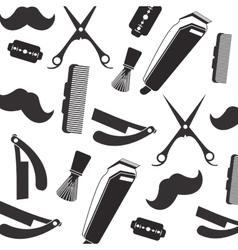 Barber shop pattern vector image