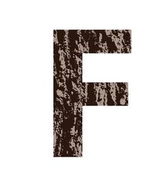 Bark letter F vector