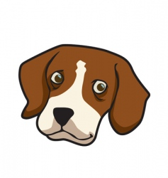 beagle dog face vector image