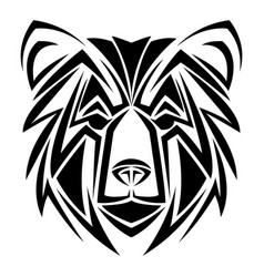 Bear tribal tatto animal creativity design vector