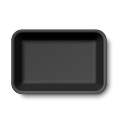 black empty styrofoam food tray vector image