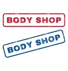 Body Shop Rubber Stamps vector image