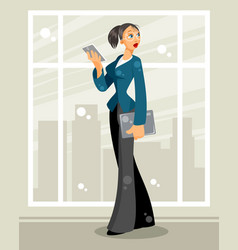business woman in the office vector image