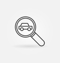 car in magnifying glass icon vector image